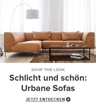 Schlicht und schön: Urbane Sofas