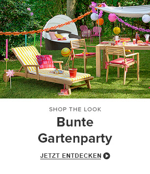 Bunte Gartenparty