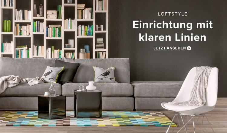 Wohnzimmermöbel im Loftstyle online bei Home24