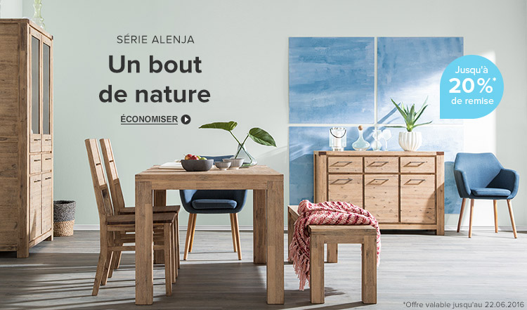 Alenja meubles en bois massif