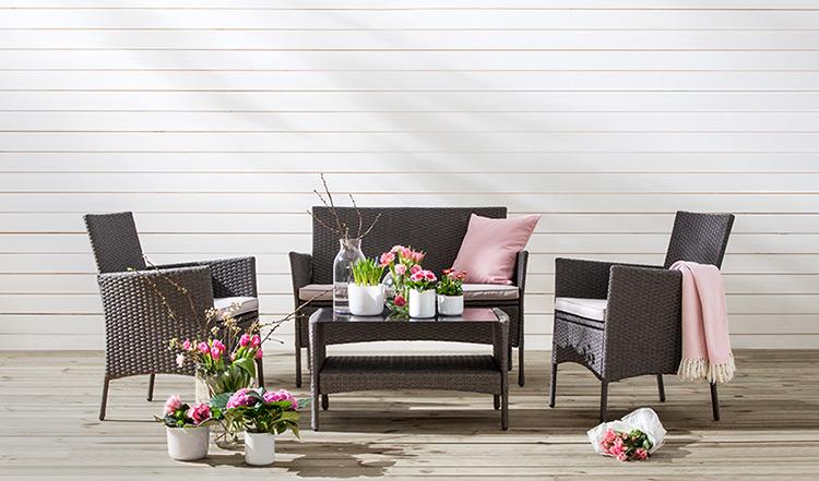 Gartenmobel Bei Conforama : GartenmöbelSets aus Polyrattan