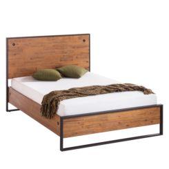 Bett Metall Holz