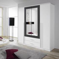 Kleiderschrank weiß schiebetüren spiegel  Kleiderschränke | Ein Schlafzimmerschrank mit viel Stauraum | home24