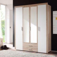 kleiderschränke   ein schlafzimmerschrank mit viel stauraum   home24 - Schlafzimmerschrank Weiß Hochglanz