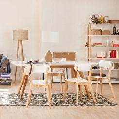 wei e lederne k chenst hle m belideen. Black Bedroom Furniture Sets. Home Design Ideas