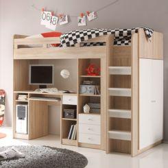 Halbhochbett mit stauraum  Kinderhochbetten | Hochbett mit Treppe online kaufen | home24