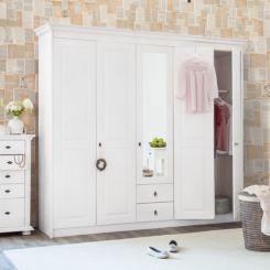 Eckkleiderschrank weiß massiv  Drehtürenschränke | Schlafzimmermöbel in großer Auswahl | Home24