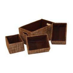 contenitori per scaffali set da 4