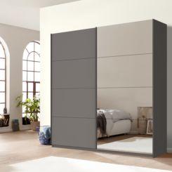 Schwebetürenschrank grau eiche  Kleiderschränke - Desinger Schränke online kaufen - Fashion For Home