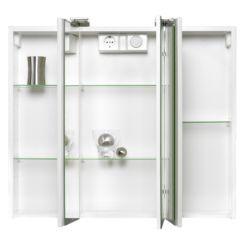 armadietto a specchio da bagno jarvis con illuminazione