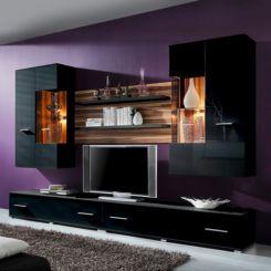 Wohnwand modern schwarz  Designer Wohnwände | Moderne Wand als Blickfang | Home24
