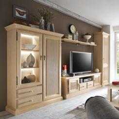Wohnzimmermöbel massiv  Massive Wohnwände | Präsentationsfläche aus Massivholz | Home24