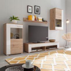 Wohnwand modern eiche weiß  Hochglanz Wohnwände | Modernität fürs Wohnzimmer | home24