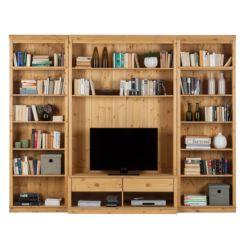 Wohnzimmermöbel massiv modern  Massive Wohnwände | Präsentationsfläche aus Massivholz | Home24