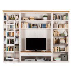 Wohnzimmermöbel massiv weiß  Massive Wohnwände | Präsentationsfläche aus Massivholz | Home24