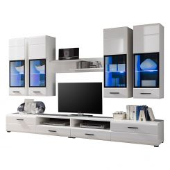 Wohnwand modern weiß hochglanz  Wohnwände   Individuelle Schrankwand für deine Räume   Home24