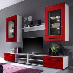 wohnwand rot bestseller shop f r m bel und einrichtungen. Black Bedroom Furniture Sets. Home Design Ideas