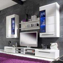 hochglanz wohnwände | modernität fürs wohnzimmer | home24 - Wohnwnde Hochglanz