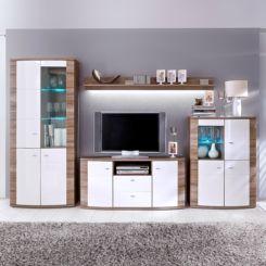 Wohnwand modern weiß hochglanz  Wohnwände im Home24 Online Möbelshop | home24.at