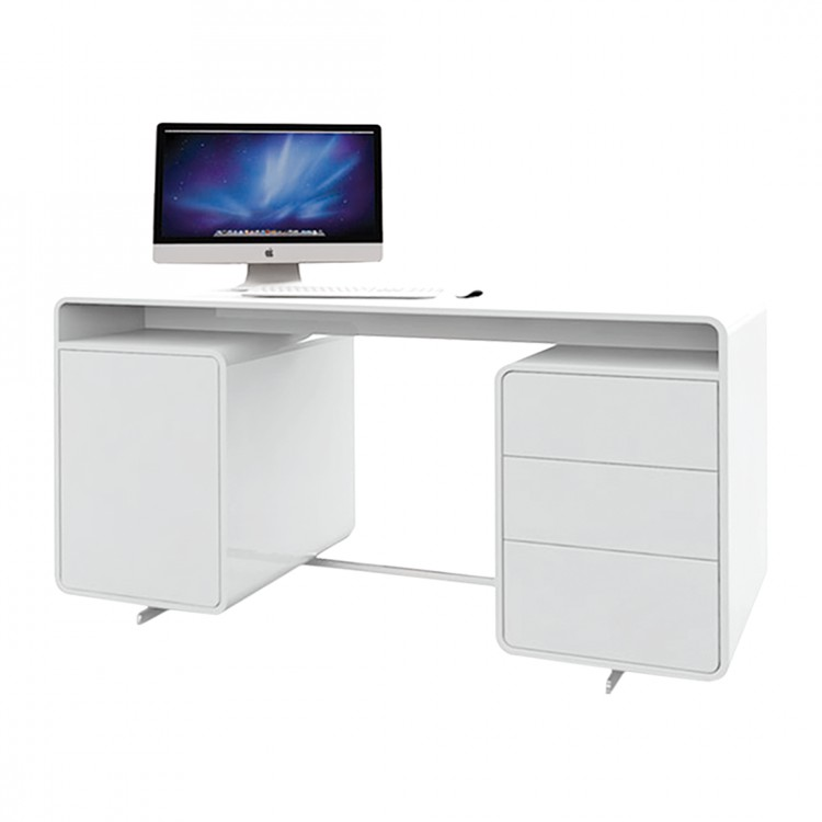 Hochglanz Weiß Schreibtisch 2021