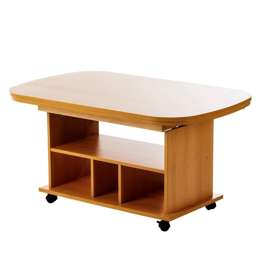 table basse bergen avec rallonge hauteur rglable imitation htre - Table Reglable En Hauteur Avec Rallonge
