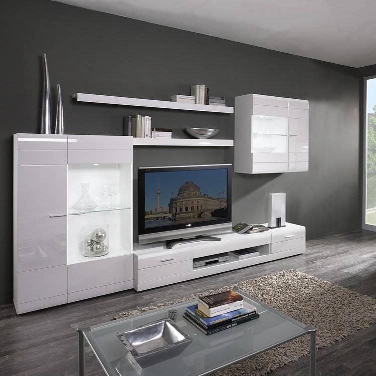 Wohnwand weiß hochglanz  California Wohnwand – für ein modernes Heim | home24