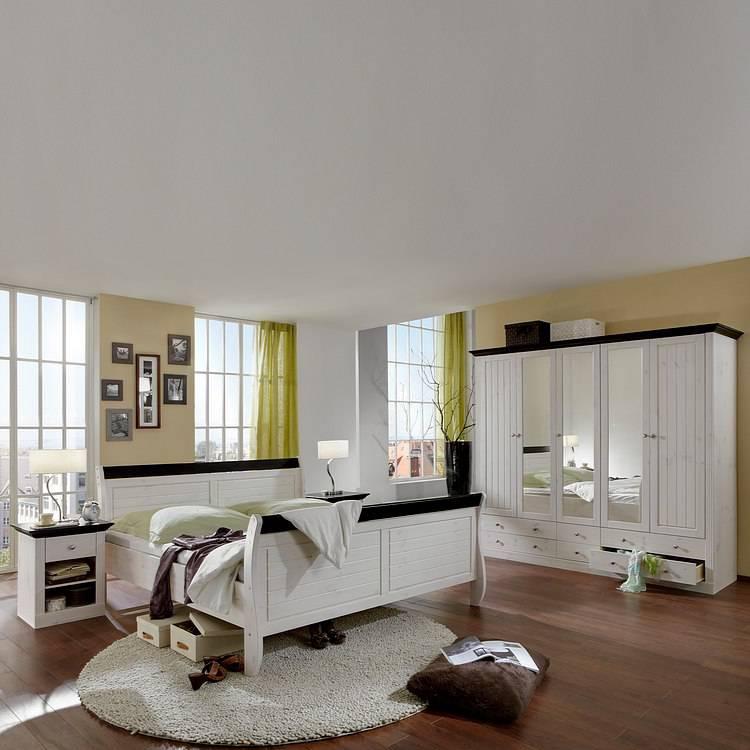 lyngby schlafzimmer set (4-teilig) - kiefer massiv | home24 - Schlafzimmer Kiefer Massiv Weis