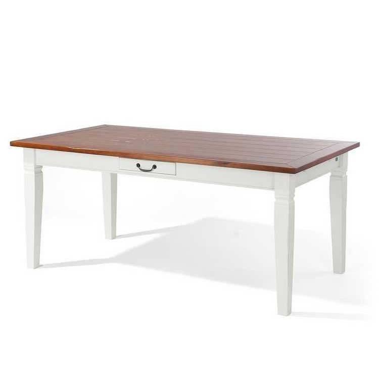 Tavolo da pranzo Provence - Parzialmente in legno mssello di acacia ...