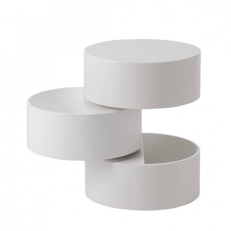 Beistelltisch mit stauraum  Beistelltisch Crazy - Weiß | home24