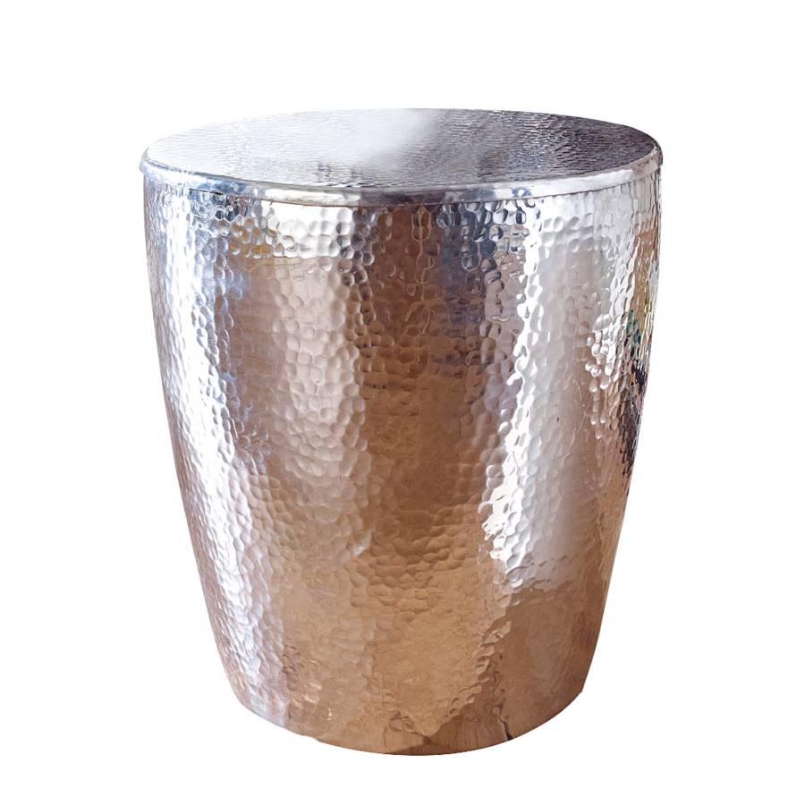 Beistelltisch metall gehämmert  Beistelltisch Galaxy - Aluminium | home24