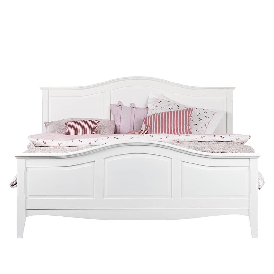 Bett weiß 160x200 landhaus  Bett aus der Serie Giselle in Weiß (180 x 200 cm) | Home24