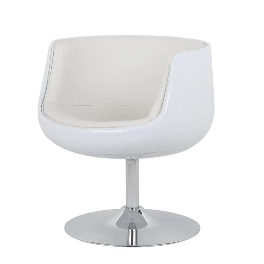 Lounge sessel wei kunstleder for Sessel home24