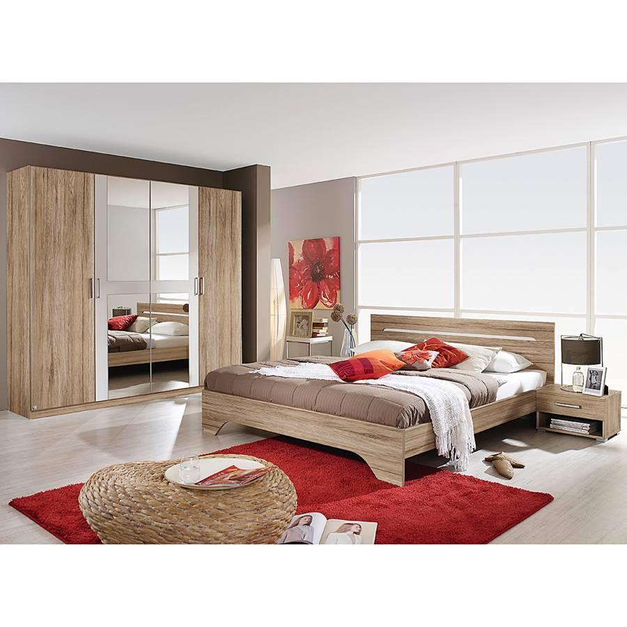 Schlafzimmerset Rubi I (4 Teilig)   Sanremo Eiche Dekor/Alpinweiß    Liegefläche Design Inspirations