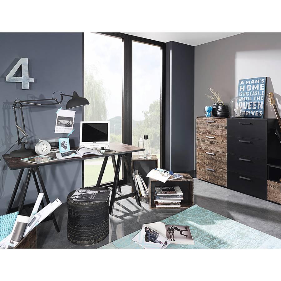 schreibtisch vintage schwarz. Black Bedroom Furniture Sets. Home Design Ideas