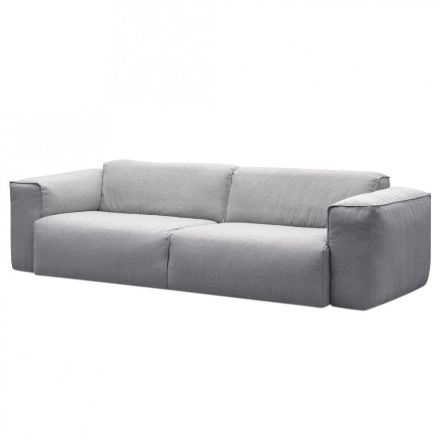 Ledercouch anthrazit  Sofa Hudson II (3-Sitzer) Webstoff - Fashion For Home