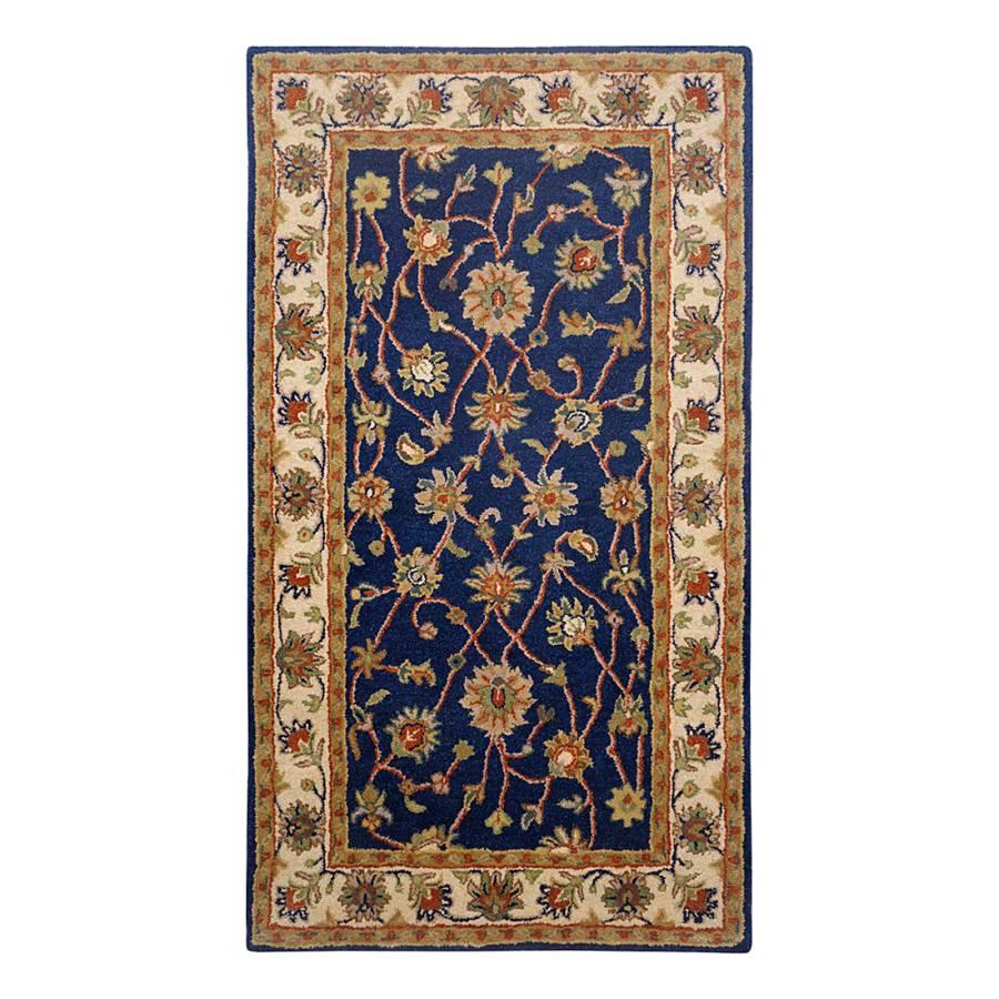 Orientteppich blau  Home24: Klassischer THEKO die markenteppiche Wollteppich   Home24