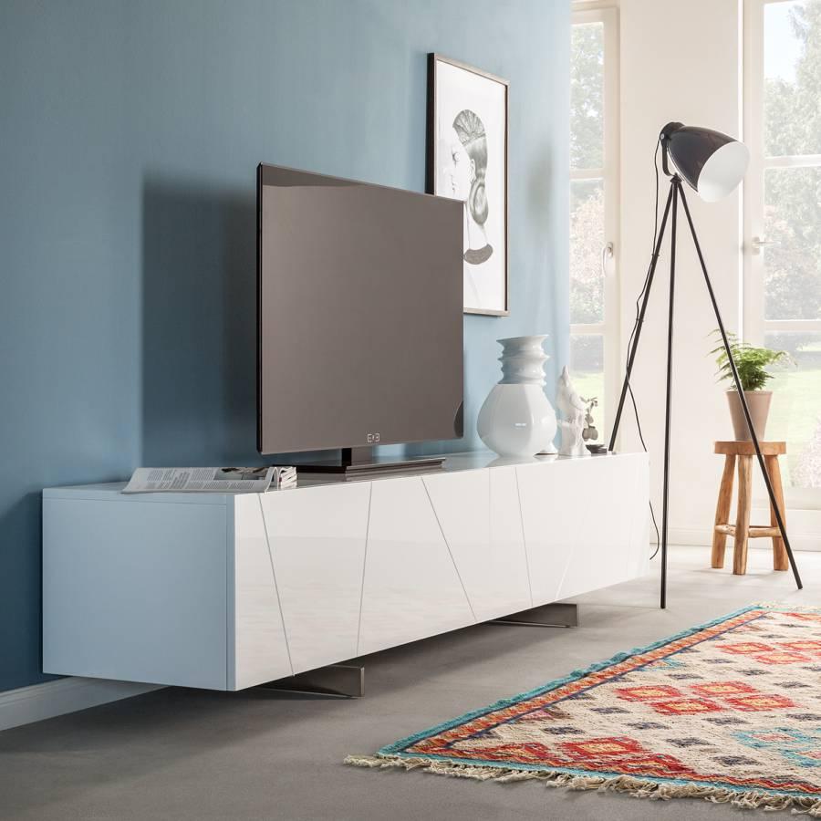tv sideboard wei hochglanz. Black Bedroom Furniture Sets. Home Design Ideas