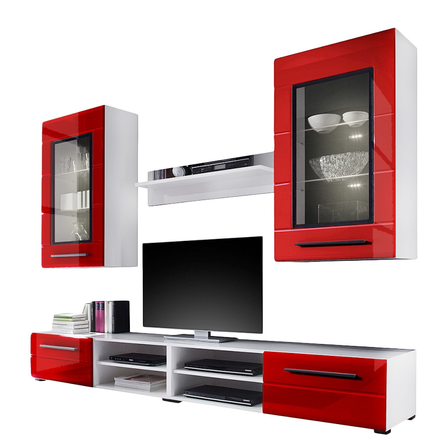 Roomscape wohnwand fur ein modernes heim for Wohnwand rot