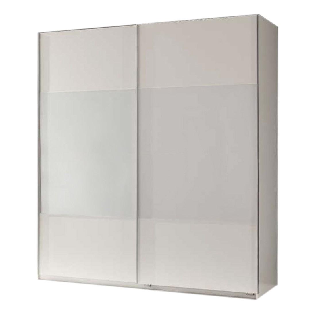 Armoire à portes coulissantes Alpine - Blanc alpin / verre blanc, Wimex