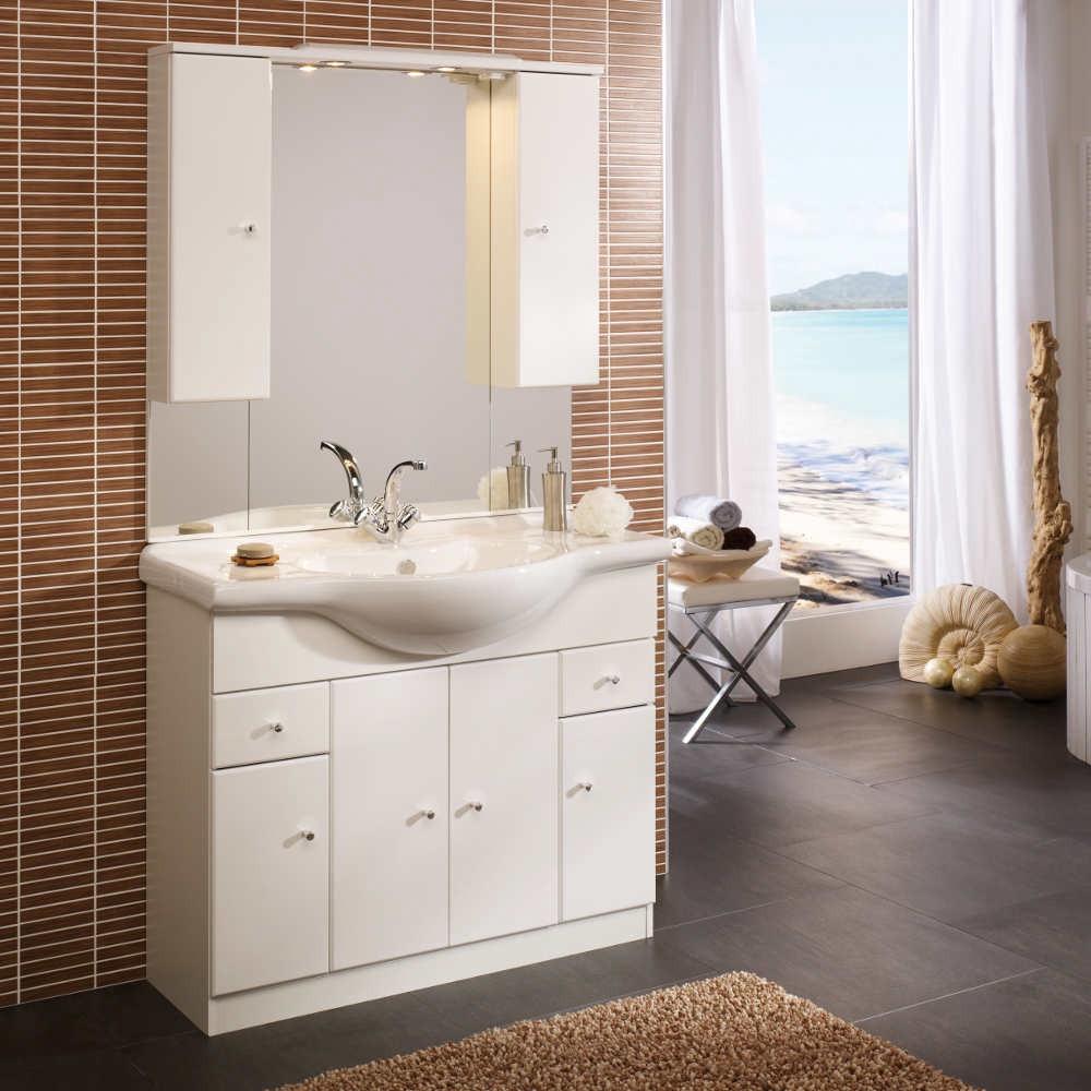 Home 24 - Eek a, meuble lavabo ina 105 - blanc, aqua suite