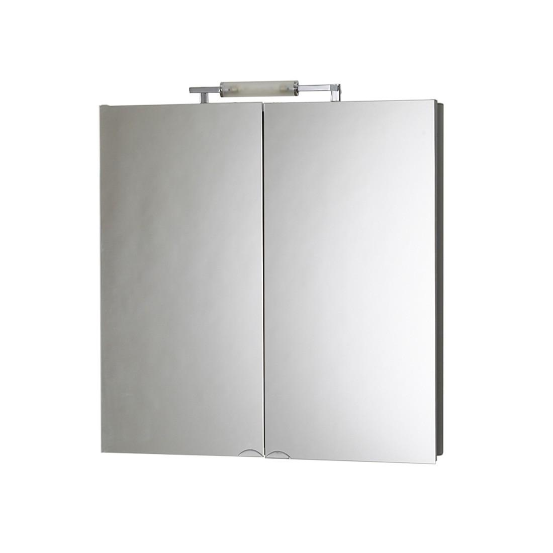 energia C, Armadietto a specchio da bagno BelALU (con illuminazione) - Argento, Jokey