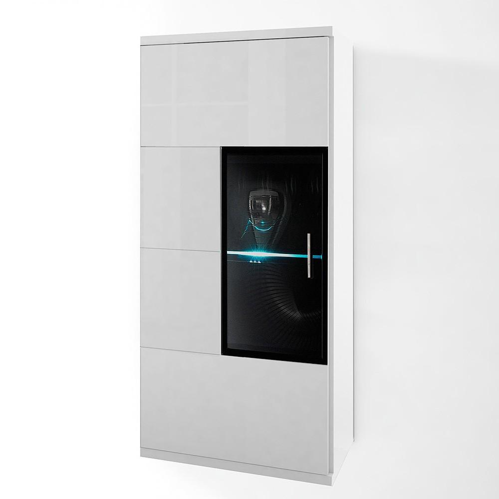 energie A+, Hangkast Corana 1 vitrinedeur verlichting inbegrepen, loftscape