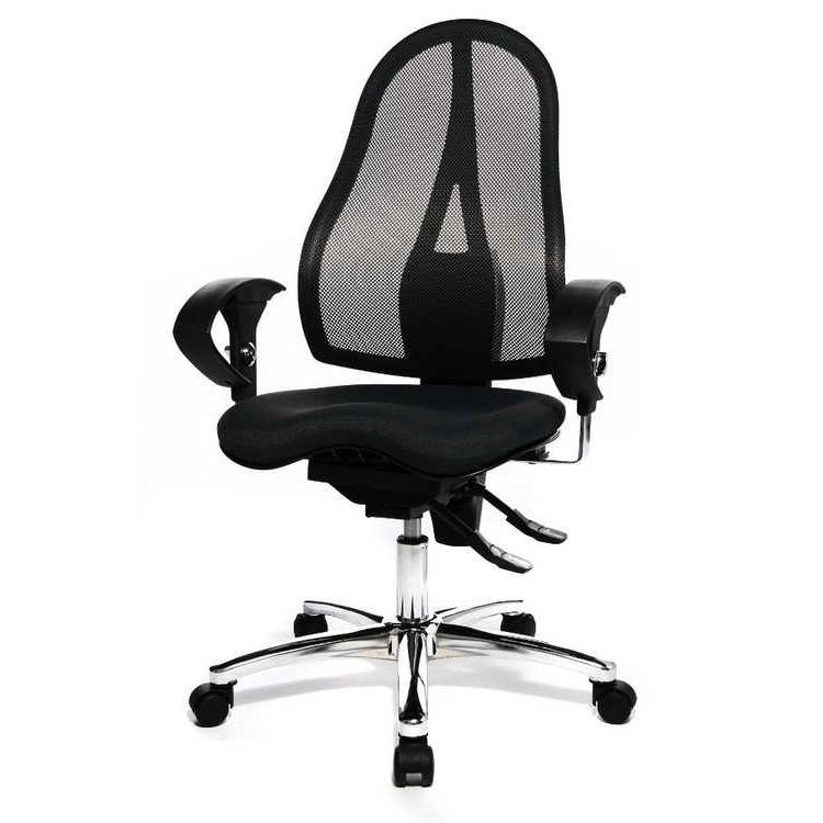 Home 24 - Chaise pivotante sitness 15 - noir, topstar