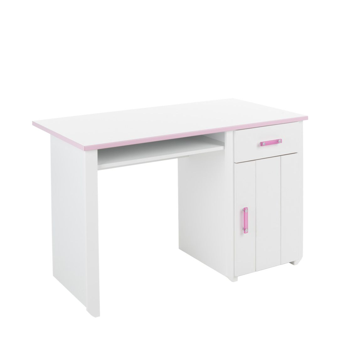 Bureau Biotiful - wit-roze, Parisot Meubles
