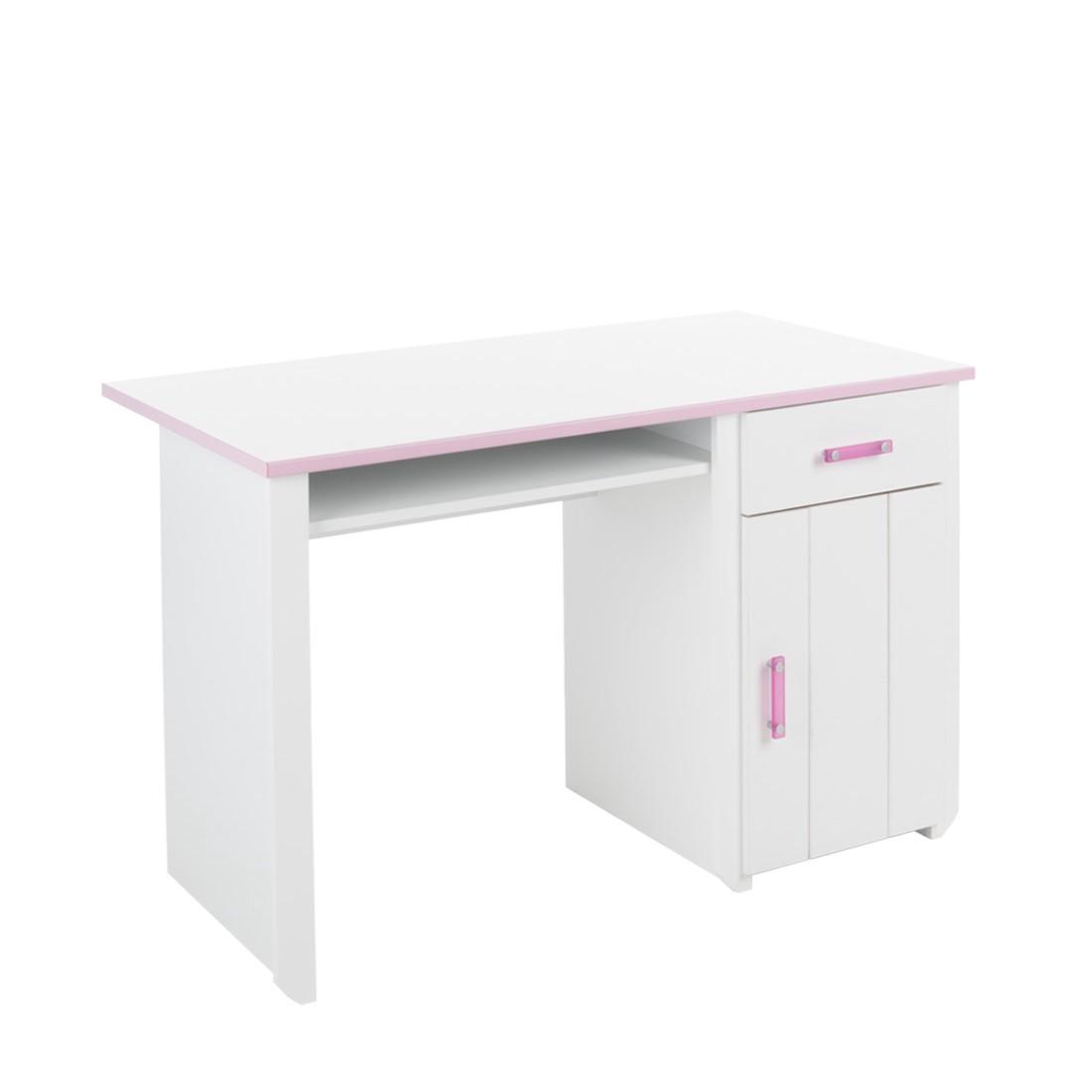 Home 24 - Bureau biotiful - décor blanc et rose, parisot meubles