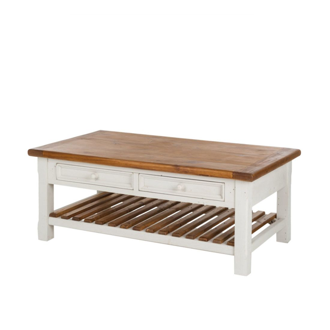 Table basse Boddo - Blanc, Ridgevalley