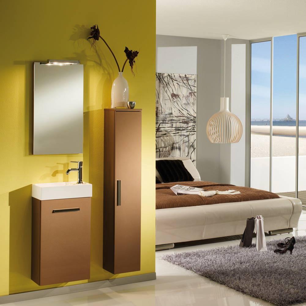 Home 24 - Ensemble de salle de bain calgary (3 éléments) - bronze - butoirs de portes à gauche, aqua suite