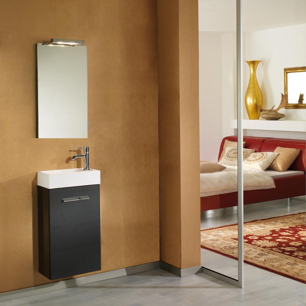 Home 24 - Eek a+, meuble lavabo calgary - avec miroir - anthracite brillant - jointure des portes à droite, aqua suite