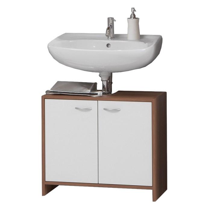 Armadietto da lavabo Salta - Bianco/Prugno, mooved