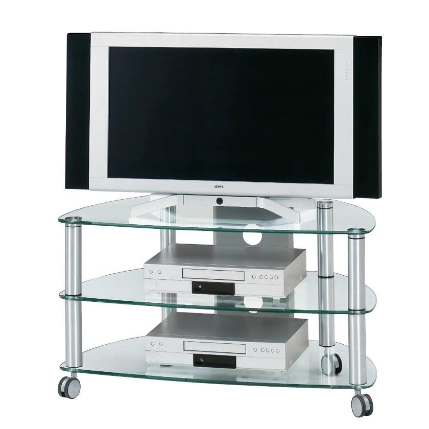 Supporto TV CU-SR 910/ 1060 - Alluminio/Vetro trasparente - 109 cm, Jahnke